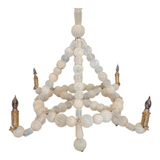 Early 20th C Venetian Glass Chandelier