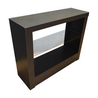 West Elm Brown  Steel & Glass Two Shelf Bookshelf