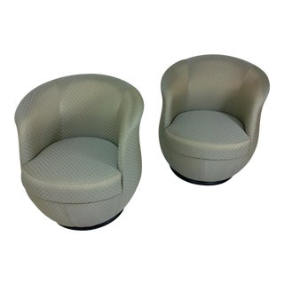 Barrel Shape Chairs - A Pair