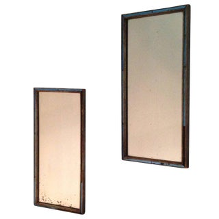 Pair of 19th Century English Regency Mirrors with Cobalt Glass Filet