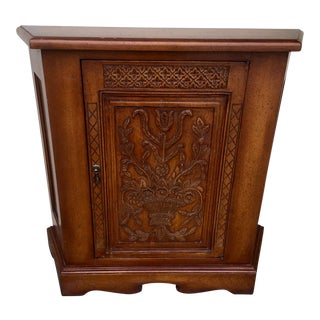 French Style Carved Single Door Cabinet