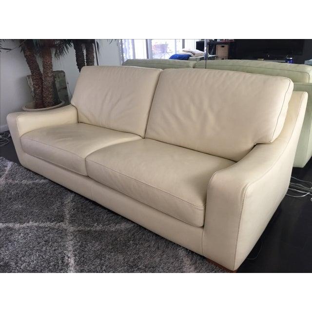 Roche Bobois Leather Sofa Sleeper - Image 3 of 9
