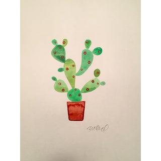 Day Glow Cactus Watercolor