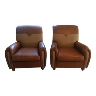 Henredon Leather Chairs - A Pair