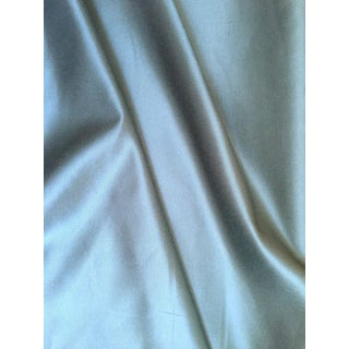 Ocean Blue Cotton Knit Backed Silk Blend