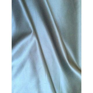 Ocean Blue Cotton Knit Backed Silk Blend