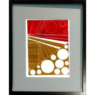 """Off Circle II"" Abstract Monoprint"
