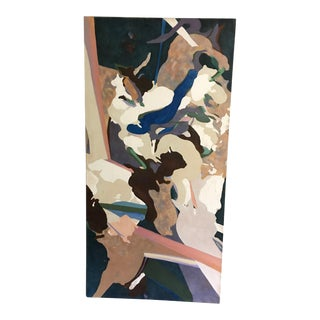 Large Mid-Century Abstract Painting by Charles Emerson