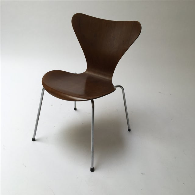 vintage arne jacobsen series 7 chair chairish. Black Bedroom Furniture Sets. Home Design Ideas