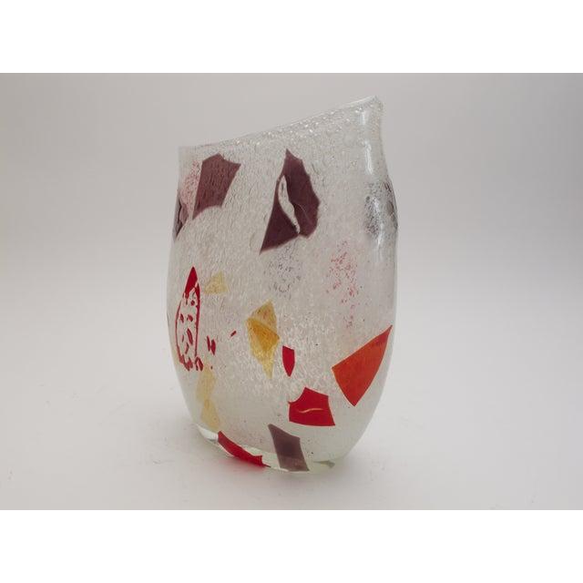 Murano Hand Blown Art Glass Vase - Image 3 of 4