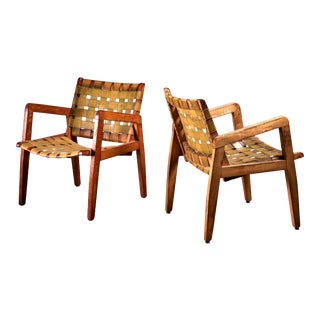 Beauchemin Brothers Pair of Webbed Armchairs, USA, 1950s