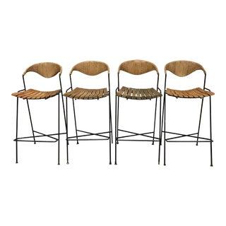 Arthur Umanoff Mid-Century Modern Bar Stools- Set of 4