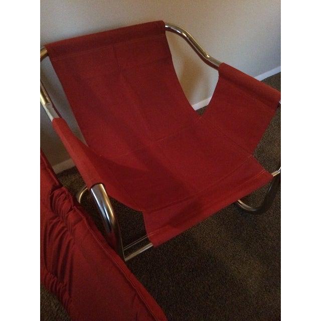 Mid-Century Modern Chrome Chair - Image 4 of 5