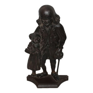 Benjamin Franklin Cast Iron Door Stop