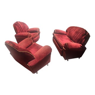 Vintage Clam Shell Loveseat & Chairs
