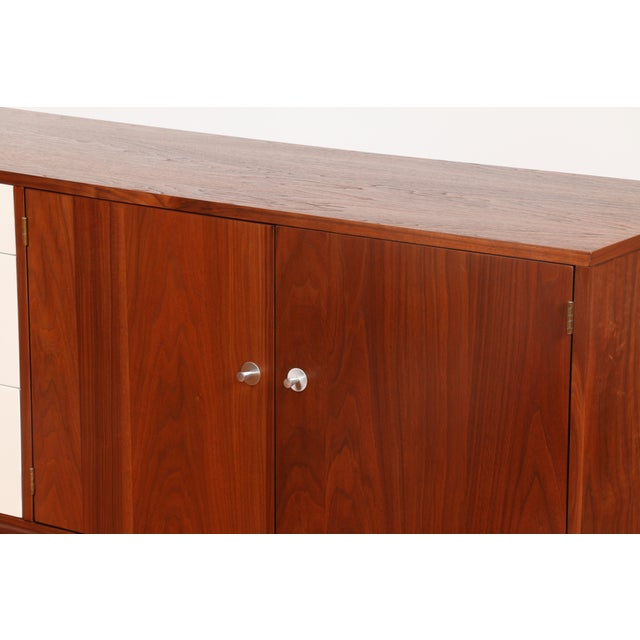 Image of Brown Lacquered Mid-Century Credenza