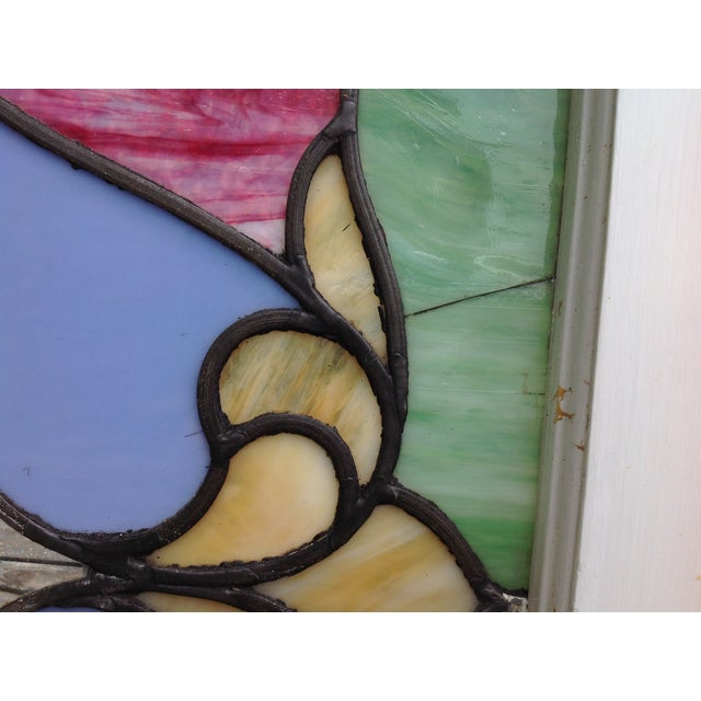 Antique Stained Glass Windows - Pair - Image 5 of 6