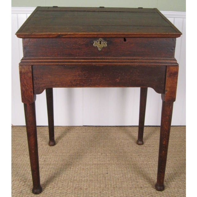 Do It Yourself Home Design: Antique Oak Scholar's Desk With Hidden Drawers