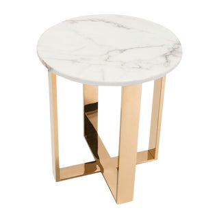 Marble & Gold Atlas End Table