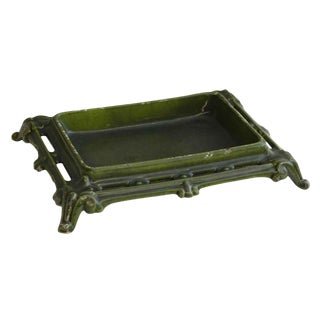 European Green Vintage Jewelry Tray