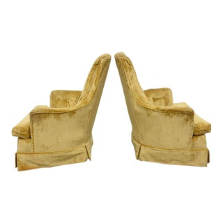 High Back Swivel Tufted Rocker/Lounge Chairs--1960s