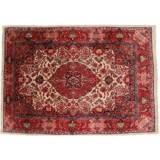 Rugsindallas Vintage Hand Knotted Wool Persian Mashad Rug