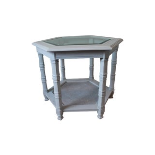 Vintage Gray Side Table