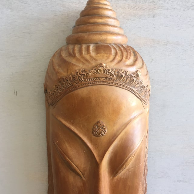 Southeast Asian Hand Carved Tribal Mask - Image 9 of 11