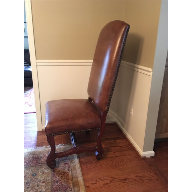 Ralph Lauren Leather Dining or Accent Chairs - S/4 - Image 3 of 6