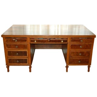 Early 1900's Mahogany Partner Desk by CF Roth