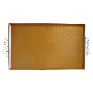 Midcentury Kyes Moiré Copper Shaded Tray