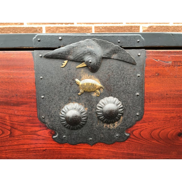 Two Drawer Primitive Chest with Metal Hardware - Image 6 of 10