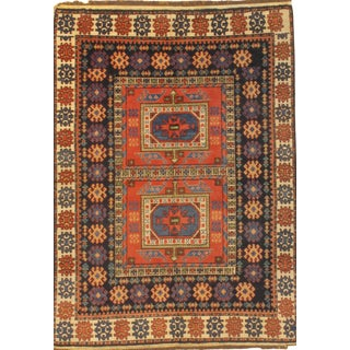 "Pasargad N Y Kazak Design Hand-Knotted Area Rug - 4'8"" X 6'7"""