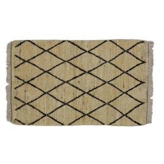 Moroccan Trellis Rug with Minimalist Style - 2' x 3'