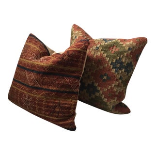 Pottery Barn Kilim-Style Accent Pillows - A Pair