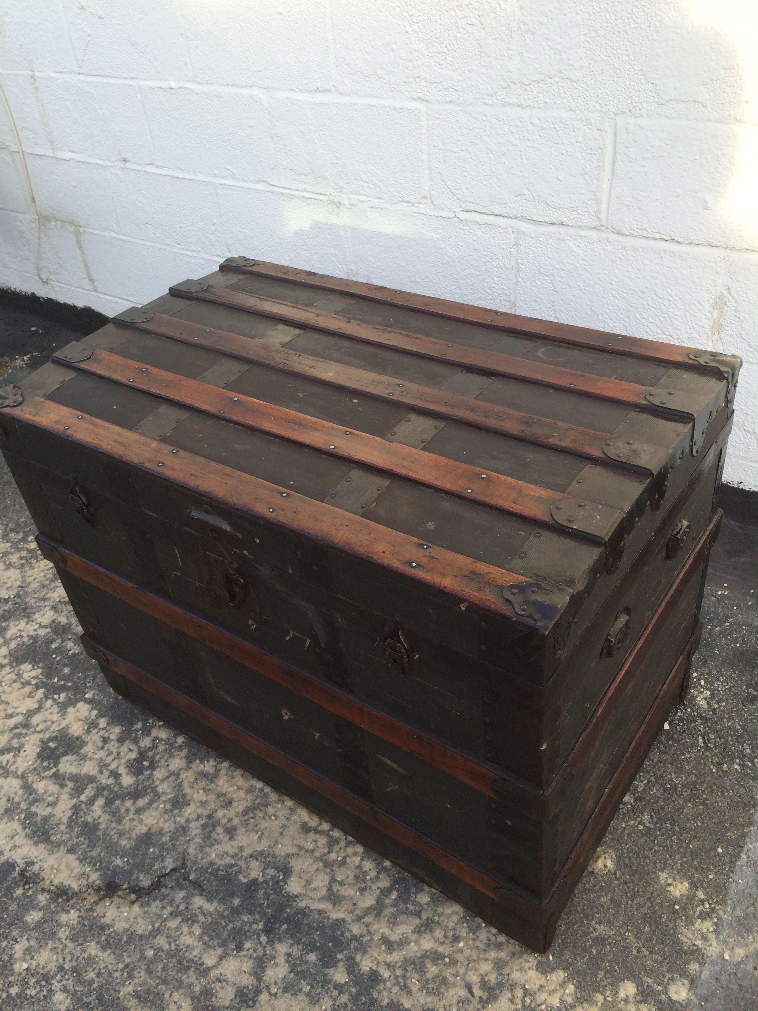 Antique Steamer Trunk : Chairish