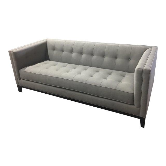 Custom Designer Tufted Sofa In Gray Fabric Chairish