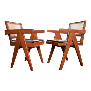 Pierre Jeanneret Mid-Century Office Chairs - A Pair