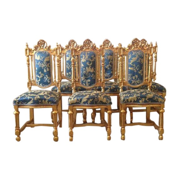 Louis XVI Style Dining Room Chairs Set Of 6 Chairish
