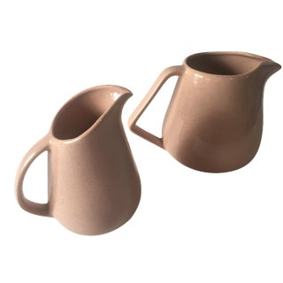 Bauer Speckle Ware Pitchers - A Pair