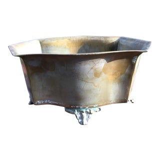 Six Sided Solid Brass Planter