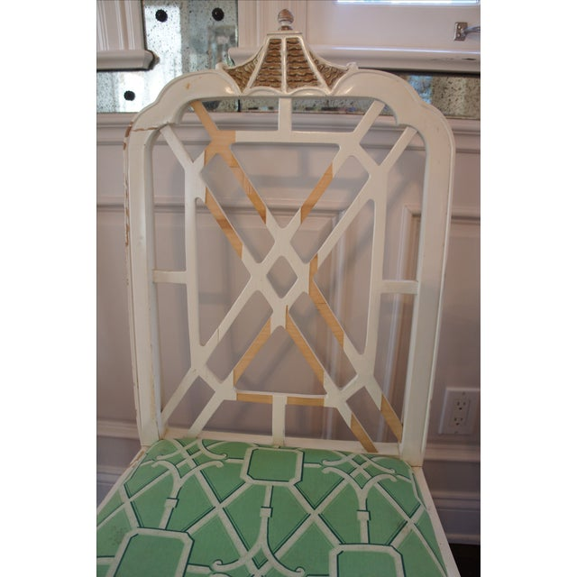 Pagoda Dining Chairs - Set of 4 - Image 6 of 9