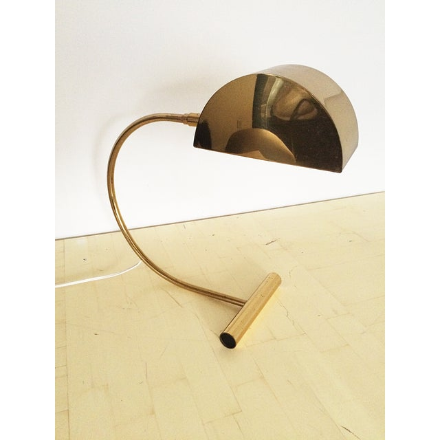 Image of Koch and Lowy Brass Demilune Table Lamp