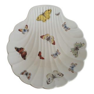 Limoges, France Shell Serving Dish with Butterflies