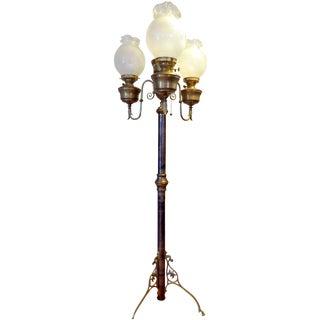 Antique Wild West Saloon Hotel Floor Oil Lamp