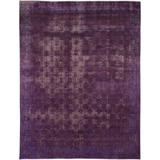"Purple Persian Overdyed Rug - 9'4"" X 12'2"""