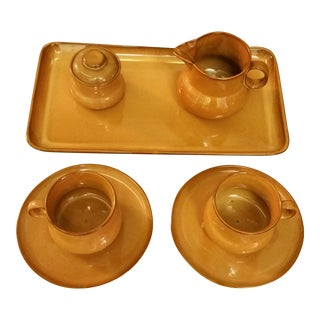 Casarte Italy Ceramic Mocha Coffee Set - Set of 7