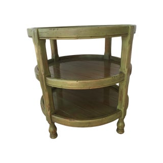 Green Distressed Accent Table
