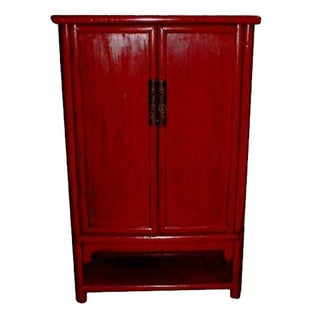 Fujian Red Lacquer Cabinet