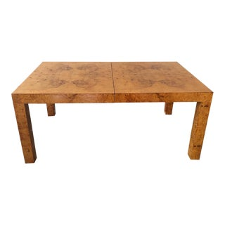 Milo Baughman for Thayer Coggin Burl Wood Parsons Dining Table